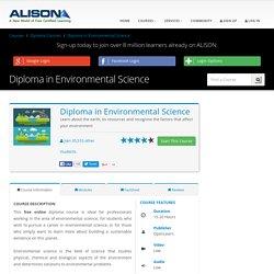 Free Diploma in Environmental Science