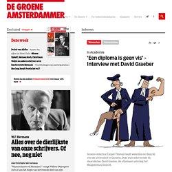 'Een diploma is geen vis' - Interview met David Graeber