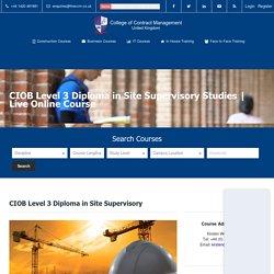 Site Supervisor Course