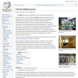 Cônsul (diplomacia)