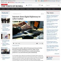 Internet: from digital diplomacy to cyber warfare