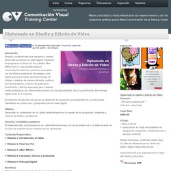 Diplomado en Diseño y Edición de Vídeo