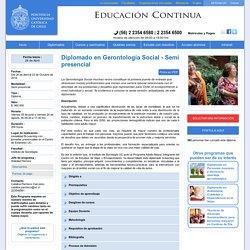 Diplomado en Gerontología Social
