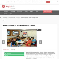 Jeunes Diplomates Winter Language Camps! - Services - Classifieds - French Alps