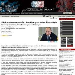 Diplomates expulsés : Poutine gracie les États-Unis