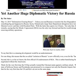 Yet Another Huge Diplomatic Victory for Russia    :   Information Clearing House
