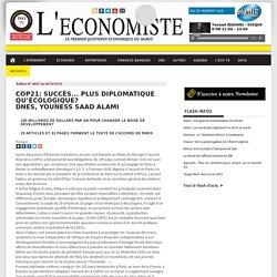 COP21: Succès... plus diplomatique qu'écologique? DNES, Youness SAAD ALAMI