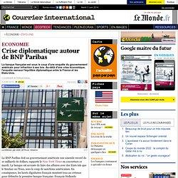 Crise diplomatique autour de BNP Paribas