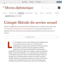 L'utopie libérale du service sexuel, par Mona Chollet (Le Monde diplomatique, septembre 2014)