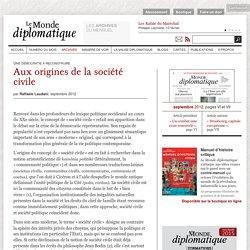 Aux origines de la société civile, par Raffaele Laudani