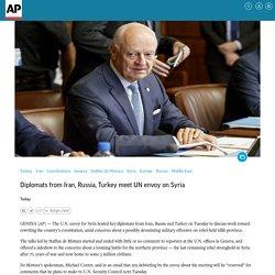 Diplomats from Iran, Russia, Turkey meet UN envoy on Syria