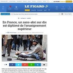 En France, un sans-abri sur dix est diplômé de l'enseignement supérieur