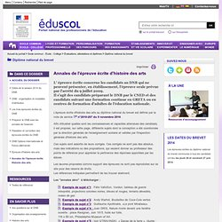 Annales zéro Histoire des arts DNB