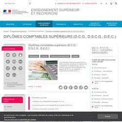 Diplômes comptables supérieurs (D.C.G., D.S.C.G., D.E.C.)