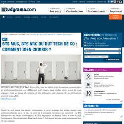 BTS MUC, BTS NRC ou DUT Tech de co: comment bien choisir?