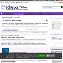 Diplômes professionnels - Les diplômes professionnels