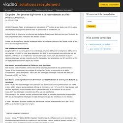 Enquête : les jeunes diplômés & le recrutement sur les réseaux sociaux solutions recrutement Viadeo