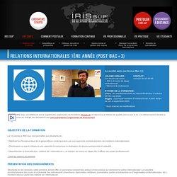 IRIS SUP' - Diplômes - Relations inter. 1e année