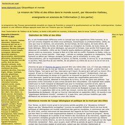 diploweb.com TPE La mission de l'elite et des elites par A. Viatteau