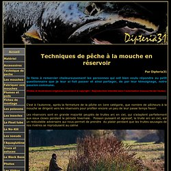 Dipteria31 - Bien débuter la peche à la mouche : Les techniques de pêche à la mouche en réservoir.
