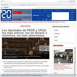 Los diputados de PSOE y UPyD, los más activos; los de Amaiur y ministros, los más absentistas