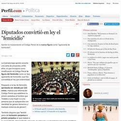 """Diputados convirtió en ley el """"femicidio"""""""
