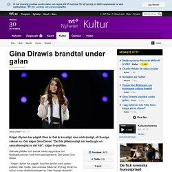 Gina Dirawis brandtal under galan