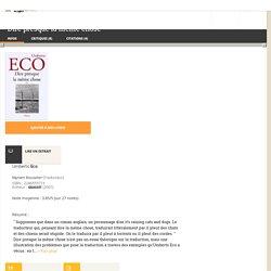 Dire presque la même chose - Umberto Eco