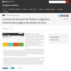 La Direcció General de Política Lingüística estrena nova pàgina de dictats en línia. Llengua catalana