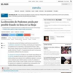La dirección de Podemos anula por posible fraude su lista en La Rioja