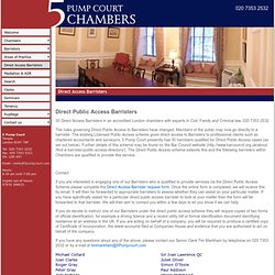 Direct Access Barristers