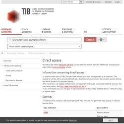 Direct access - Technische Informationsbibliothek (TIB)