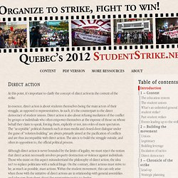 Direct action « The 2012 Quebec student strike