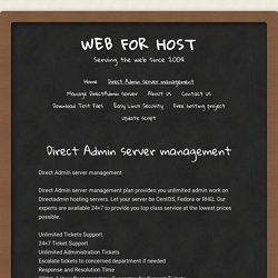 Direct Admin server management