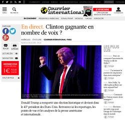 En direct. Clinton gagnante en nombre de voix