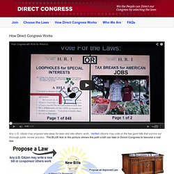 Direct Congress | How Direct Congress Works