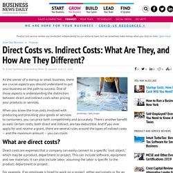 Direct vs. Indirect Costs: Classifying Business Expenses