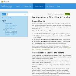 Direct Line 3.0 REST API