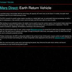 Mars Direct; Earth Return Vehicle