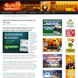 Direct Email marketing The Top Ways to this step