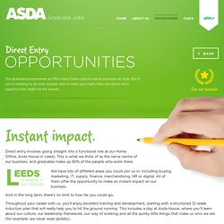 Direct Entry : Asda Graduates