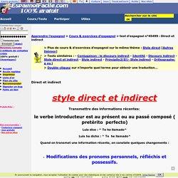 Direct et indirect-espagnol