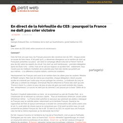 En direct de la foirfouille du CES : pourquoi la France ne doit pas crier victoire