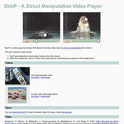DimP - A Direct Manipulation Video Player