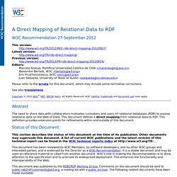 A Direct Mapping of Relational Data to RDF