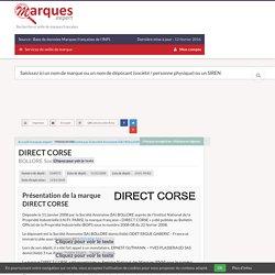 11/01/2008 dépose la marque DIRECT CORSE