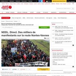 NDDL. Direct. Des milliers de manifestants sur la route Nantes-Vannes