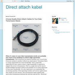 Direct attach kabel: Choose Quality Direct Attach Cables for Your Data Transmission Needs