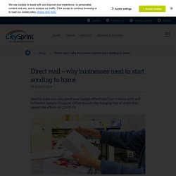 Direct mail – why businesses need to start sending to home