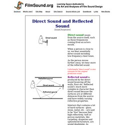 Direct Sound and Reflected Sound